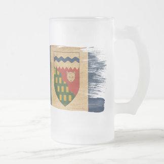 Bandera de los territorios del noroeste taza de cristal