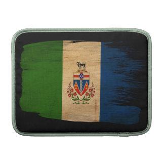 Bandera de los territorios del Yukón Fundas Macbook Air