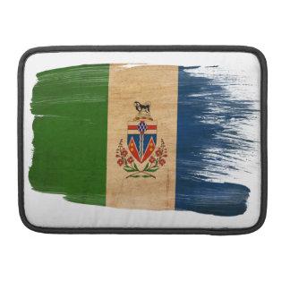 Bandera de los territorios del Yukón Funda Macbook Pro