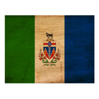 Bandera de los territorios del Yukón Postales