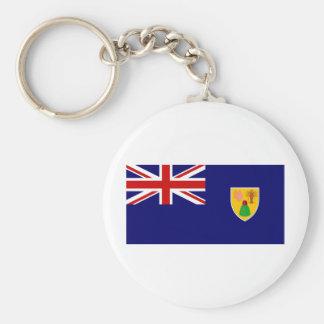Bandera de los turcos y de las islas de Caico Llavero Personalizado