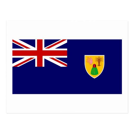 Bandera de los turcos y de las islas de Caico Tarjeta Postal