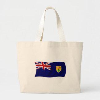 Bandera de los Turks and Caicos Islands Bolsa Tela Grande
