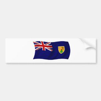 Bandera de los Turks and Caicos Islands Pegatina Para Auto