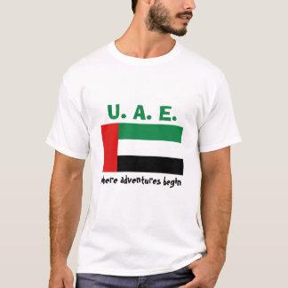 Bandera de los UAE + Mapa + Camiseta del texto