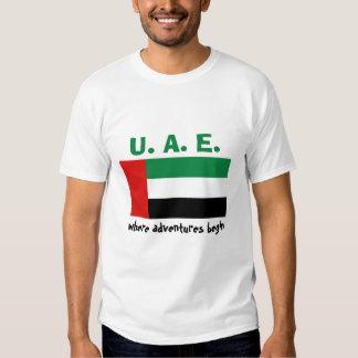 Bandera de los UAE + Mapa + Camiseta del texto Remeras