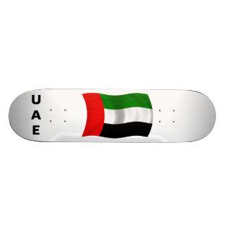 Bandera de los UAE que agita Patín