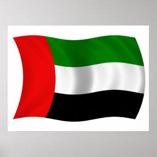 Bandera de los UAE que agita Póster