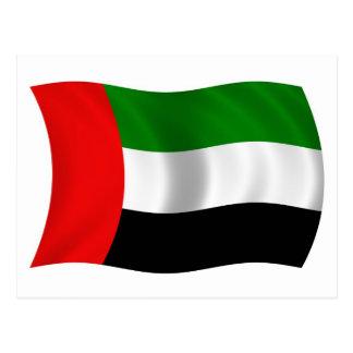 Bandera de los UAE que agita Postal