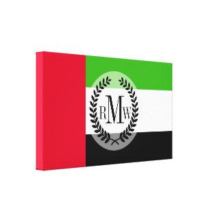 Bandera de los UAE United Arab Emirates Impresión En Lienzo