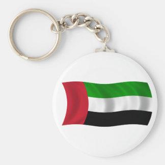 Bandera de los United Arab Emirates Llavero Redondo Tipo Pin