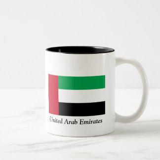 Bandera de los United Arab Emirates Taza De Dos Tonos