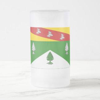Bandera de los Vosgos Taza Cristal Mate