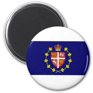Bandera de Lt Governor Terranova amperio Labrador Imán Redondo 5 Cm