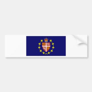 Bandera de Lt Governor Terranova amperio Labrador Pegatina Para Auto