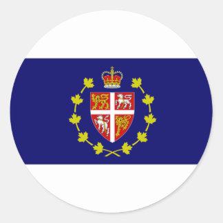 Bandera de Lt Governor Terranova amperio Labrador Pegatina Redonda