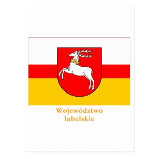 Bandera de Lubelskie - de Lublin con nombre Postal