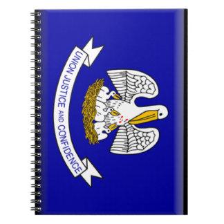 Bandera de Luisiana Libros De Apuntes Con Espiral