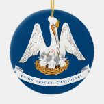 Bandera de Luisiana Ornamentos Para Reyes Magos