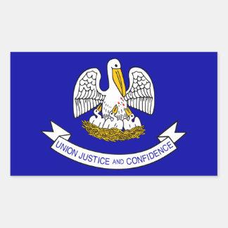 Bandera de Luisiana Pegatina Rectangular