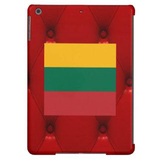 Bandera de lujo de Lituania en fondo rojo del Funda Para iPad Air