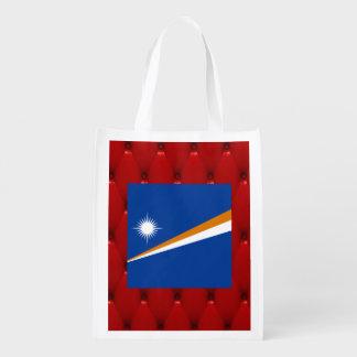 Bandera de lujo de Marshall Islands en backgrou Bolsas Para La Compra