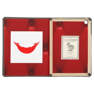 Bandera de lujo de Rapa Nui en fondo rojo del
