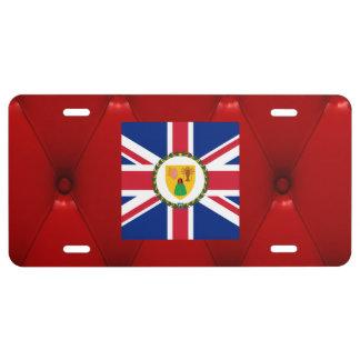 Bandera de lujo de Turks and Caicos Islands en el Placa De Matrícula