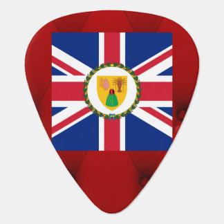 Bandera de lujo de Turks and Caicos Islands en el Púa De Guitarra