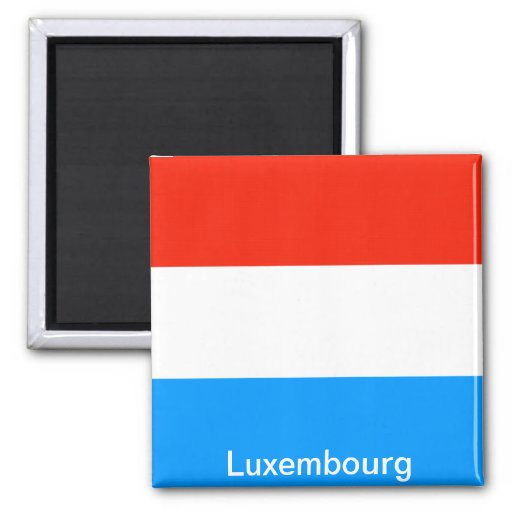 Bandera de Luxemburgo Imán Cuadrado