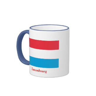 Bandera de Luxemburgo Taza A Dos Colores