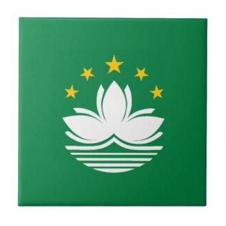 Bandera de Macao Azulejo Cuadrado Pequeño