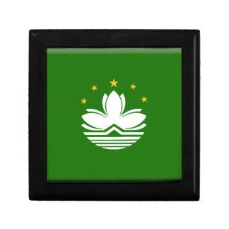 Bandera de Macao (China) Cajas De Joyas