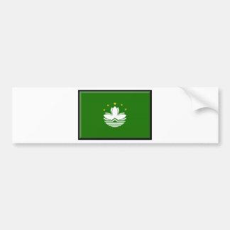 Bandera de Macao (China) Pegatina De Parachoque