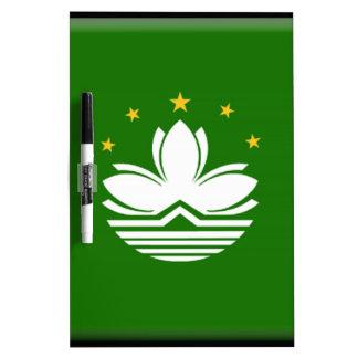 Bandera de Macao (China) Pizarra Blanca