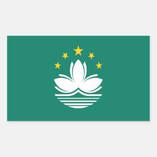 Bandera de Macao Pegatina Rectangular
