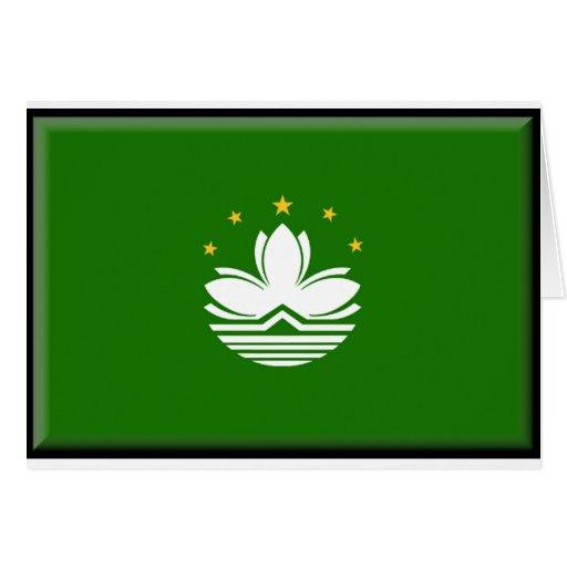 Bandera de Macao Tarjeta De Felicitación