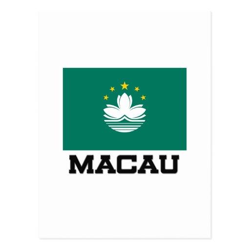 Bandera de Macao Tarjetas Postales