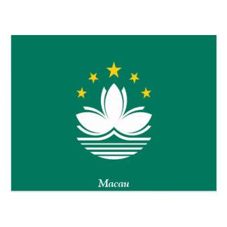 Bandera de Macao Tarjeta Postal