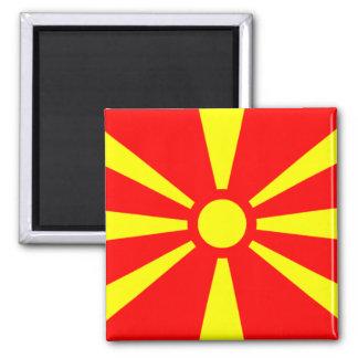 Bandera de Macedonia Imán Cuadrado