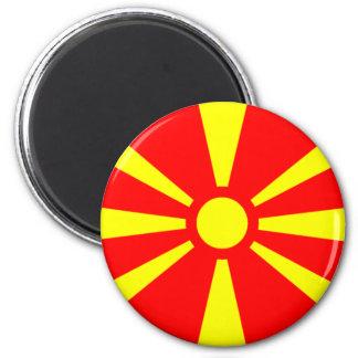 Bandera de Macedonia Imán Redondo 5 Cm