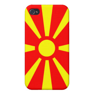 Bandera de Macedonia iPhone 4/4S Carcasas