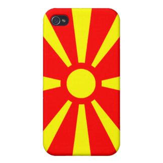 Bandera de Macedonia iPhone 4 Fundas