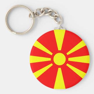 Bandera de Macedonia Llavero Redondo Tipo Pin