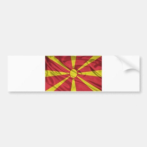 Bandera de Macedonia Pegatina Para Auto