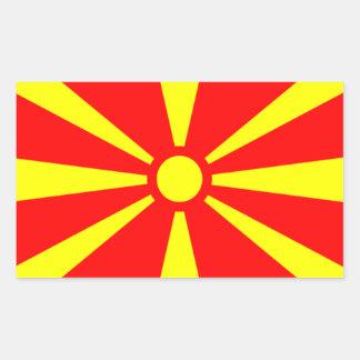 Bandera de Macedonia Pegatina Rectangular