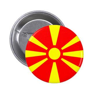 Bandera de Macedonia Pin Redondo 5 Cm