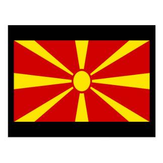 Bandera de Macedonia Postales