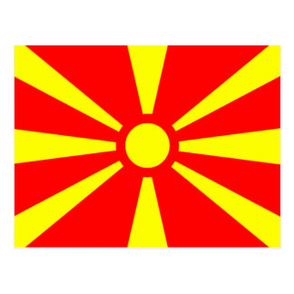 Bandera de Macedonia Tarjeta Postal