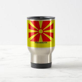 Bandera de Macedonia Taza De Viaje De Acero Inoxidable